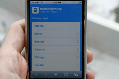 SUBWAY MAPS FOR IPHONE TRAVELLERS