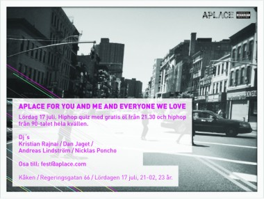 APLACE: FOR YOU AND ME AND EVERYONE WE LOVE