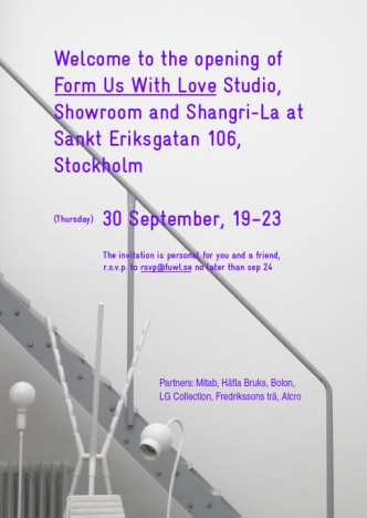FORM US WITH LOVE STUDIO OPENING