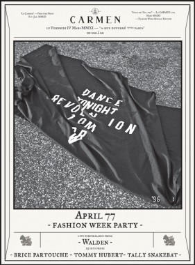 APRIL 77 FASHION WEEK PARTY