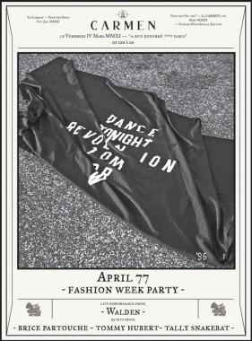 APRIL 77 FASHION WEEK PARTY