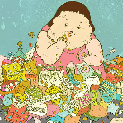 Eating Junk Foods Drawing Junk Food Benny ""