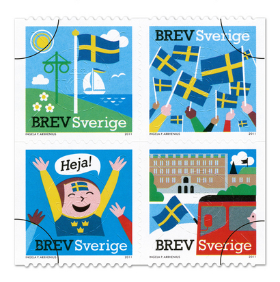 SWEDISH STAMPS COLLECTION 2011