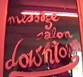 b_view: videostill, message salon downtown, 2006