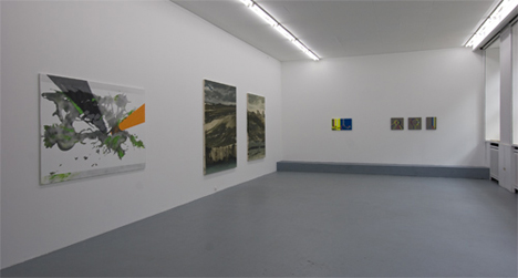 Exhibition View of Nayon Lee, Ulrich Becker and Nashun Nashunbatu © Basis Frankfurt