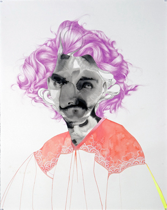 "Einstein, 2006 / Ink, gouache, colored pencil on paper, 59 1/2"" x 48"" framed / Courtesy of <a href=""http://www.pdxcontemporaryart.com/"" target=""new"">PDX Contemporary Art</a>"