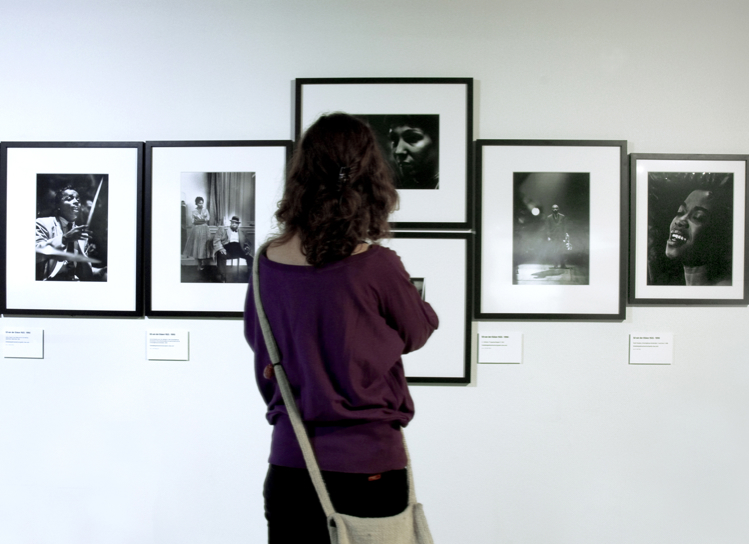 The exhibition JAZZ with photographs by Ed van der Elsken was on show at the Nederlands Fotomuseum from June 30 through September 23, 2007. Photo: Jan Adriaans & Job Janssen © Nederlands Fotomuseum