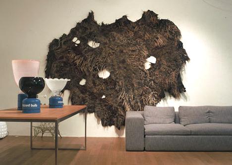 Carpet : Claudy Jongstra, Series of lamps: Hella Jongerius © The Frozen Fountain