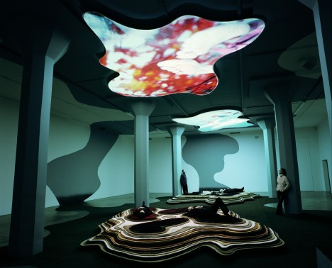 Pipilotti Rist 'Gravity, Be My Friend' installation view, 2007 © Magasin 3