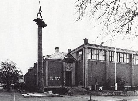 Liljevalchs Konsthall på Djurgården i Stockholm, CA 1950. Svensk Arkitektur 1640-1970
