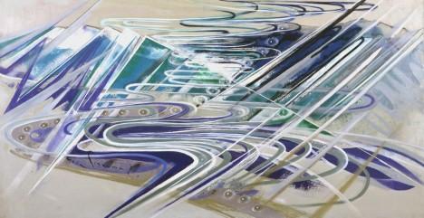 """Keiyu Nishimura """"Glacier"""", 1977, Oil on canvas © Keiyu Nishimura Museum of Art"""