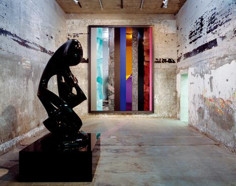 Anselm Reyle, left: Life Enigma, 2008. right: Untitled, 2008. Photo: Noshe
