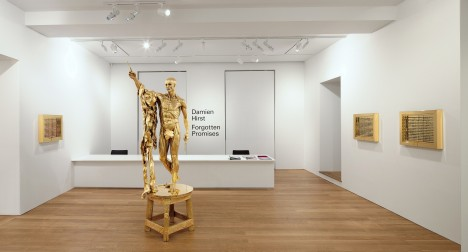 Installation view of Damien Hirst: Forgotten Promises at Gagosian Gallery Hong Kong, 2011. Courtesy Gagosian Gallery.