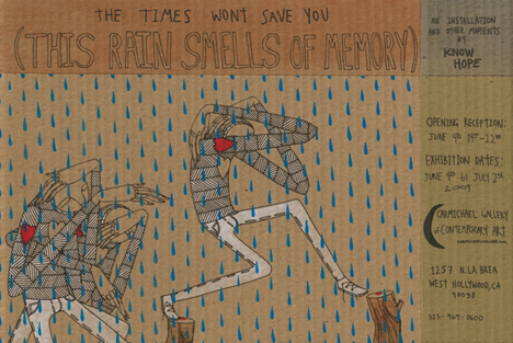 "KNOW HOPE ""THE TIMES WON'T SAVE YOU (THIS RAIN SMELLS OF MEMORY)"""