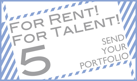 「FOR RENT! FOR TALENT! 5」公募展