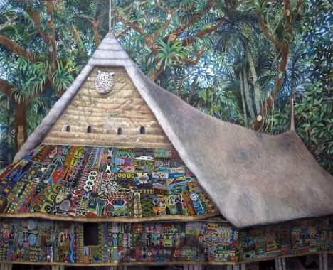 大小島真木個展「獣たちの声は精霊の声となり、カヌムンは雨を降らし、人々は土地を耕した。」