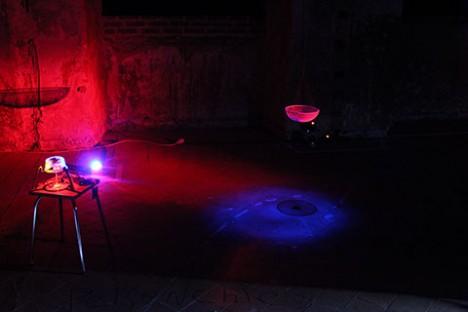 堀尾寛太ワークショップ 「音と光の変換実験」