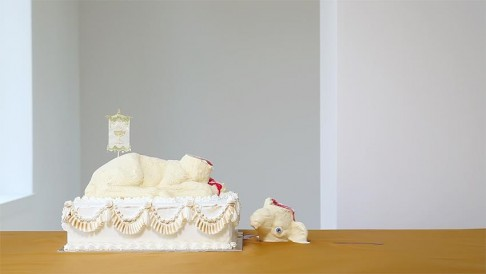 Sarah Carlier, The Lamb (video still), 2013, courtesy Sarah Carlier en LhGWR gallery