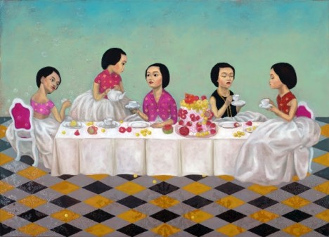 Shia Yih Yiing, The More We Get Together III (2013), Oil on Canvas, 135 x 200 cm