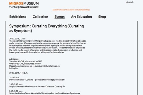 SYMPOSIUM: CURATING EVERYTHING