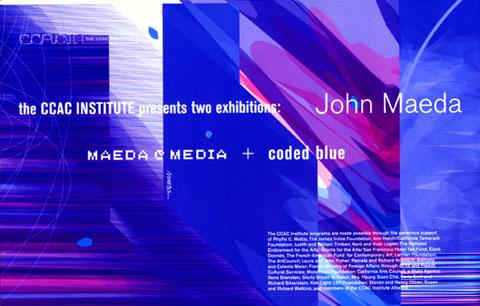 """JOHN MAEDA """"CODED BLUE"""""""