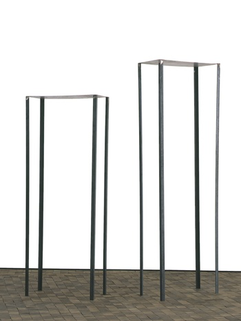 Louise Bourgeois, 1978, Steel, 2 elements, Unique variant of 2: Taller Element: 2,133 x 685 x 355 mm, Shorter Element: 1,828 x 685 x 355 mm