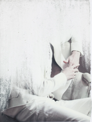"Amie Dicke ""Inside -188- Hold"" 2014, Sandpaper abrasion on print, 55 x 41 cm"