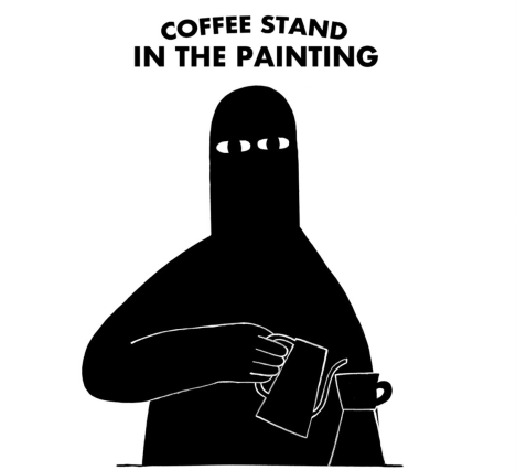 COFFEE STAND IN THE PAINTING