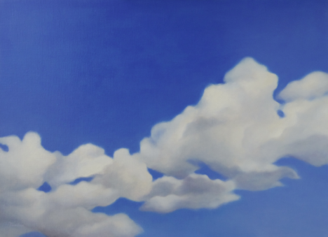 """White Clouds and Blue Sky"", 2014, 727×1,000mm, Oil on Canvas"