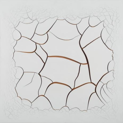 "Adriana Varejão ""White Mimbres II"" 2015, oil and plaster on canvas, 150 x 150 x 6 cm, LM21976"