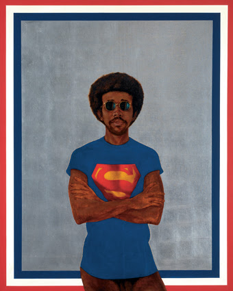 Barkley L. Hendricks, Icon for my Man Superman (Superman Never Saved Any Black People-Bobby Seale), 1969. Jack Shainman Gallery. © Barkley L. Hendricks. Courtesy of the artist and Jack Shainman Gallery, New York