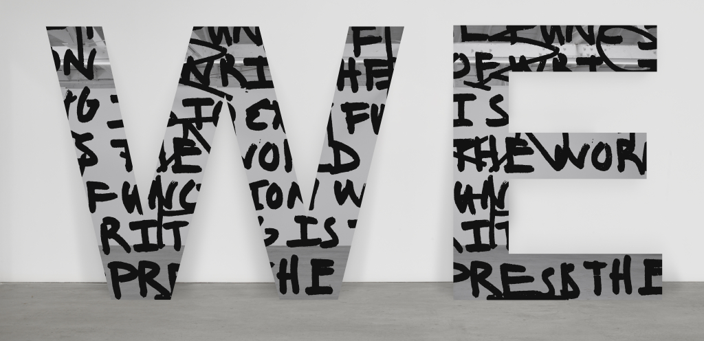 Adam Pendleton, WE (we are not successive), 2015. © Courtesy of the artist, Pace Gallery