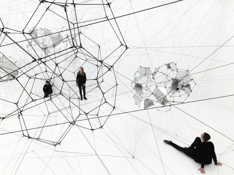 Tomás Saraceno, Stillness in Motion—Cloud Cities, 2016 (installation view, SFMOMA).  Photo: Katherine Du Tiel