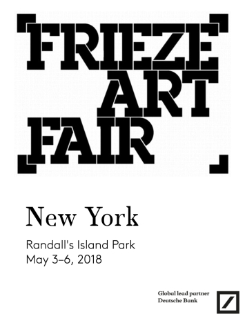 FRIEZE NEW YORK 2018